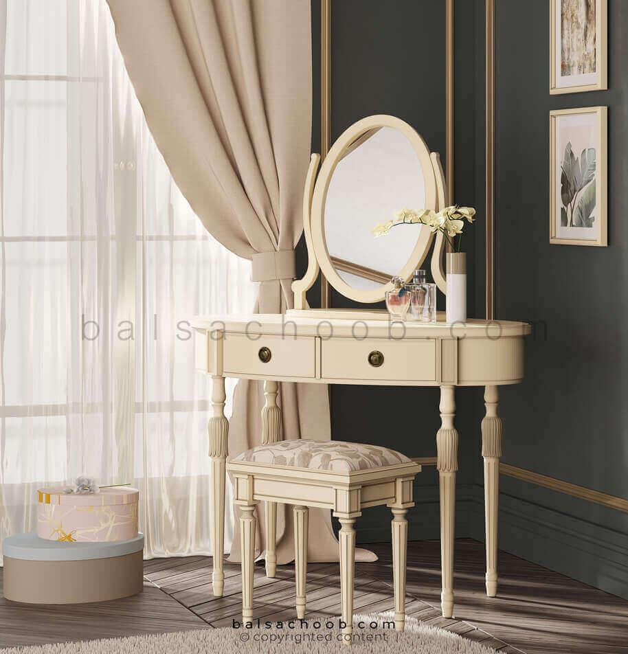 میز آرایش نیمه کلاسیک والریا