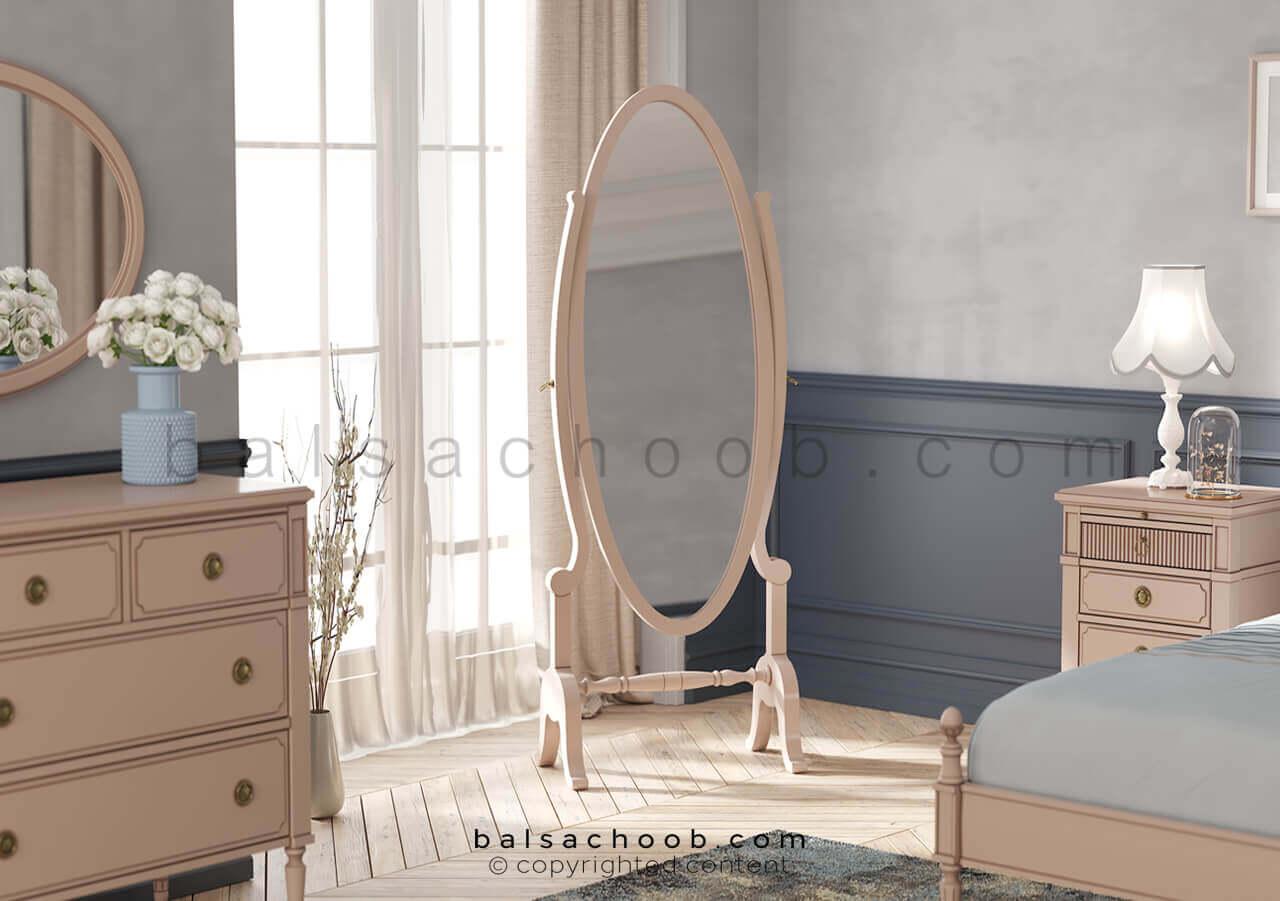 آینه قدی پتینه کاری شده