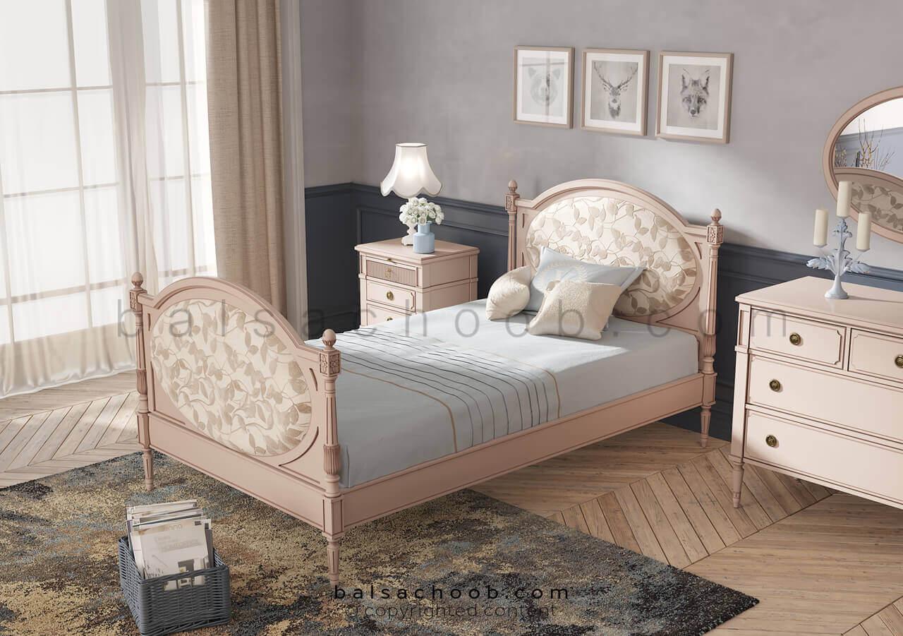 تخت خواب هدبورد پارچه ای