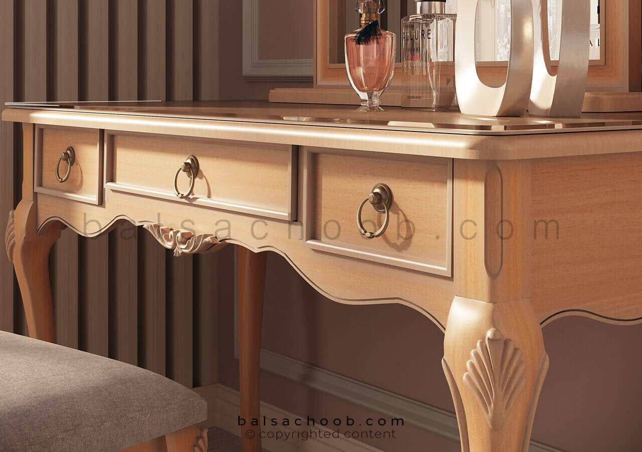 میز آرایش چوبی مدل روکو