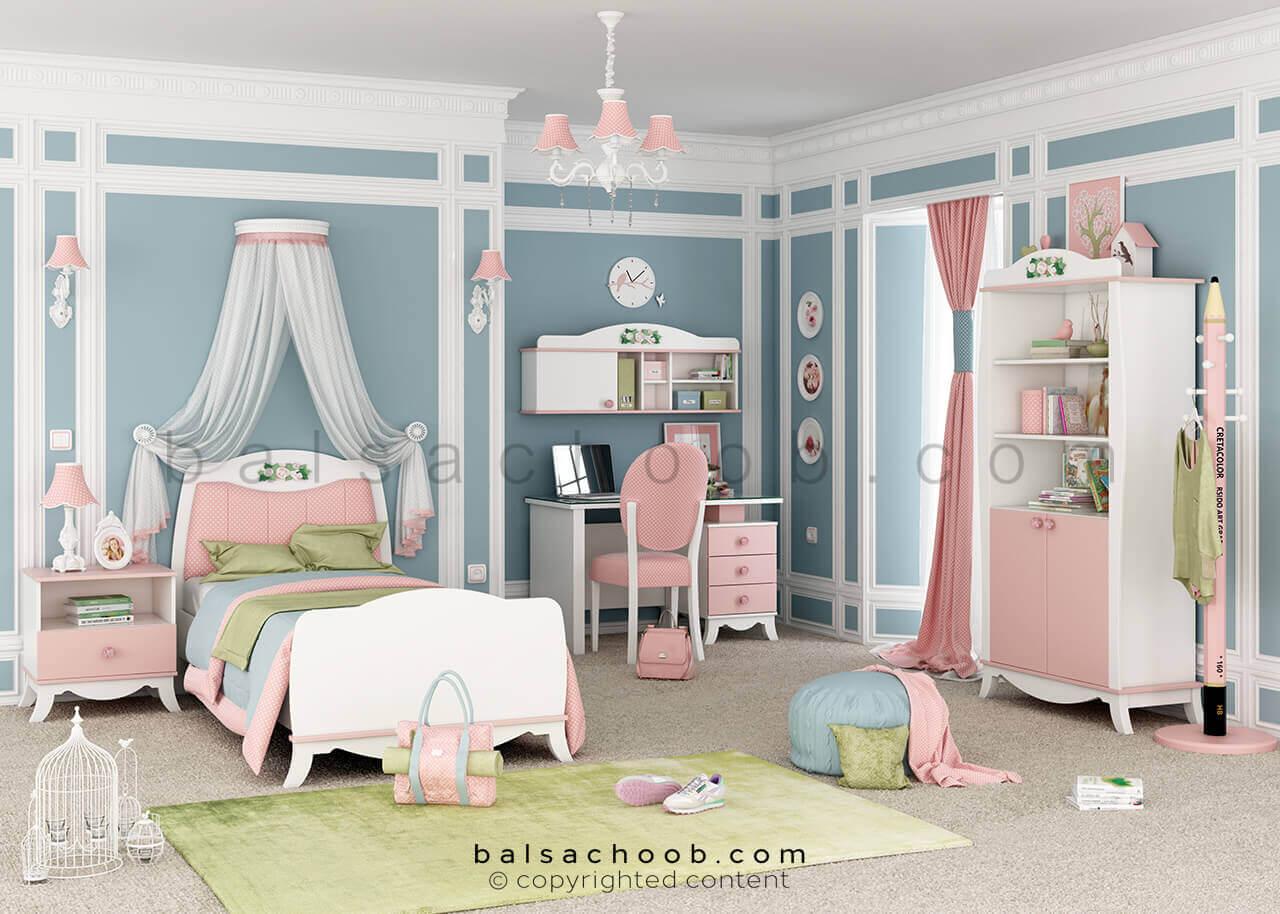 اتاق خواب دخترانه به سبک بالسا