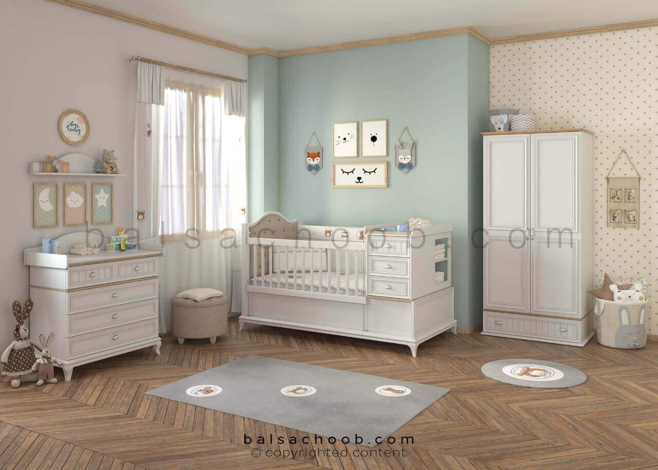 سرویس خواب نوزاد بالسا مدل آگرین