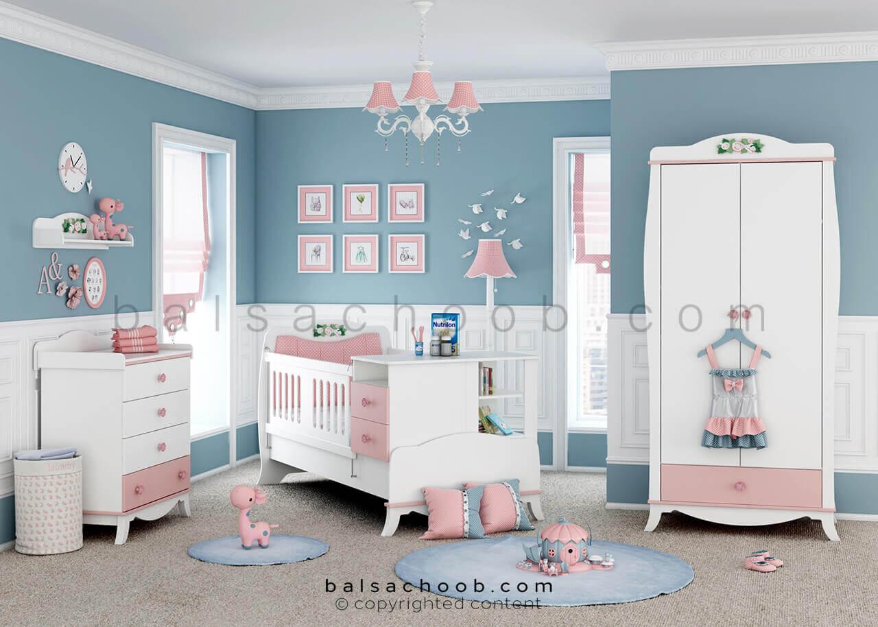 سرویس خواب نوزاد بالسا مدل لنی