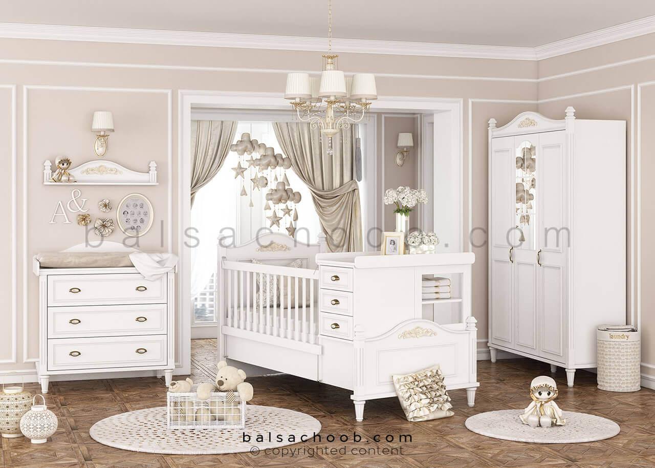 سرویس خواب نوزاد بالسا مدل لیدی