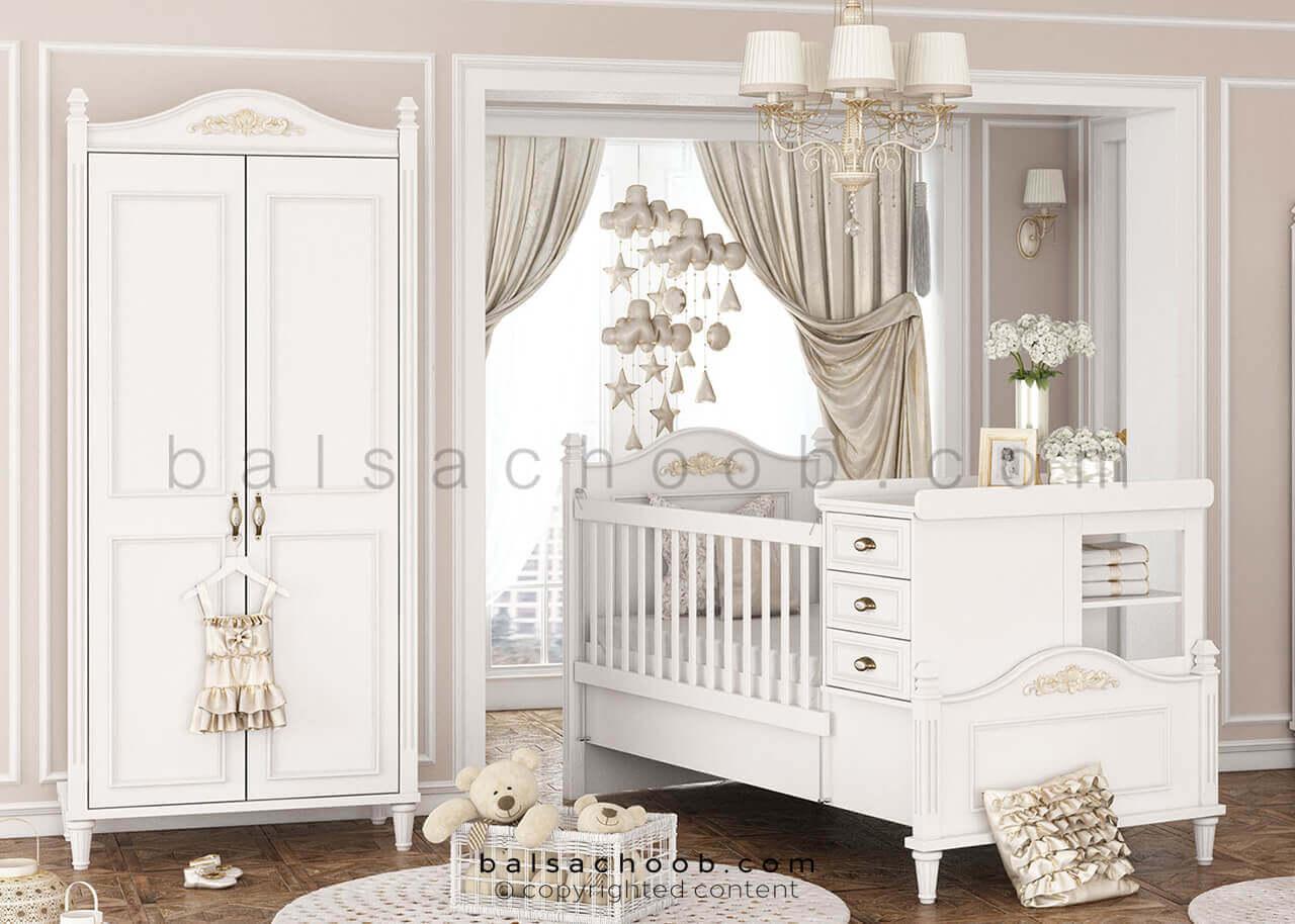تختخواب نوزاد دختر