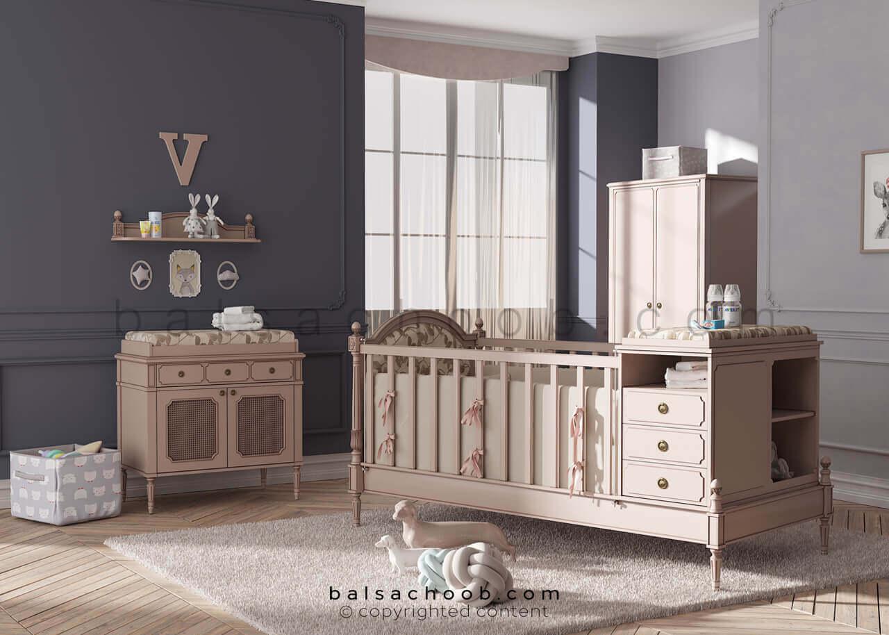 تخت نوزاد قابل تبدیل