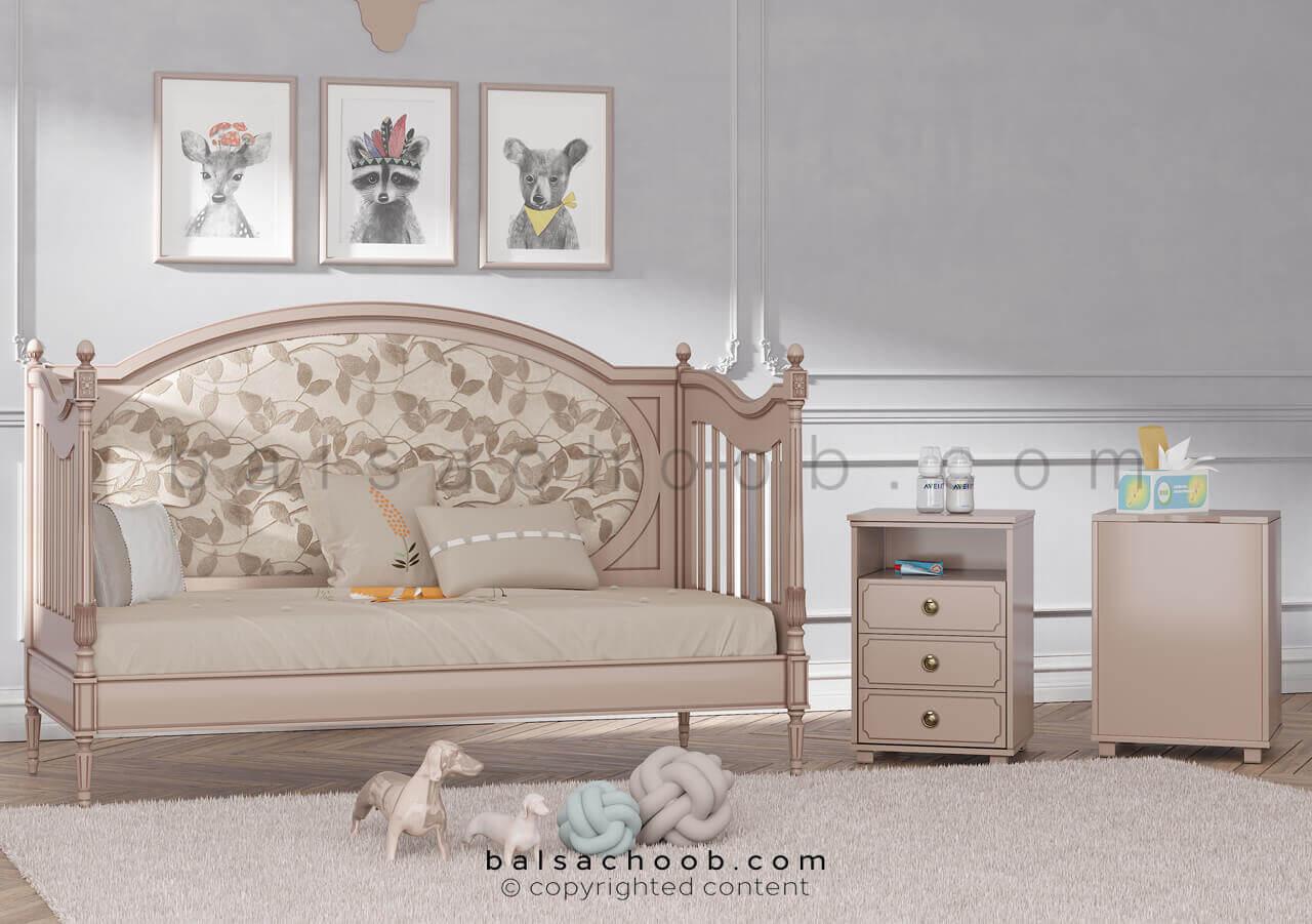 تخت نوزاد قابل تبدیل به کاناپه شیردهی