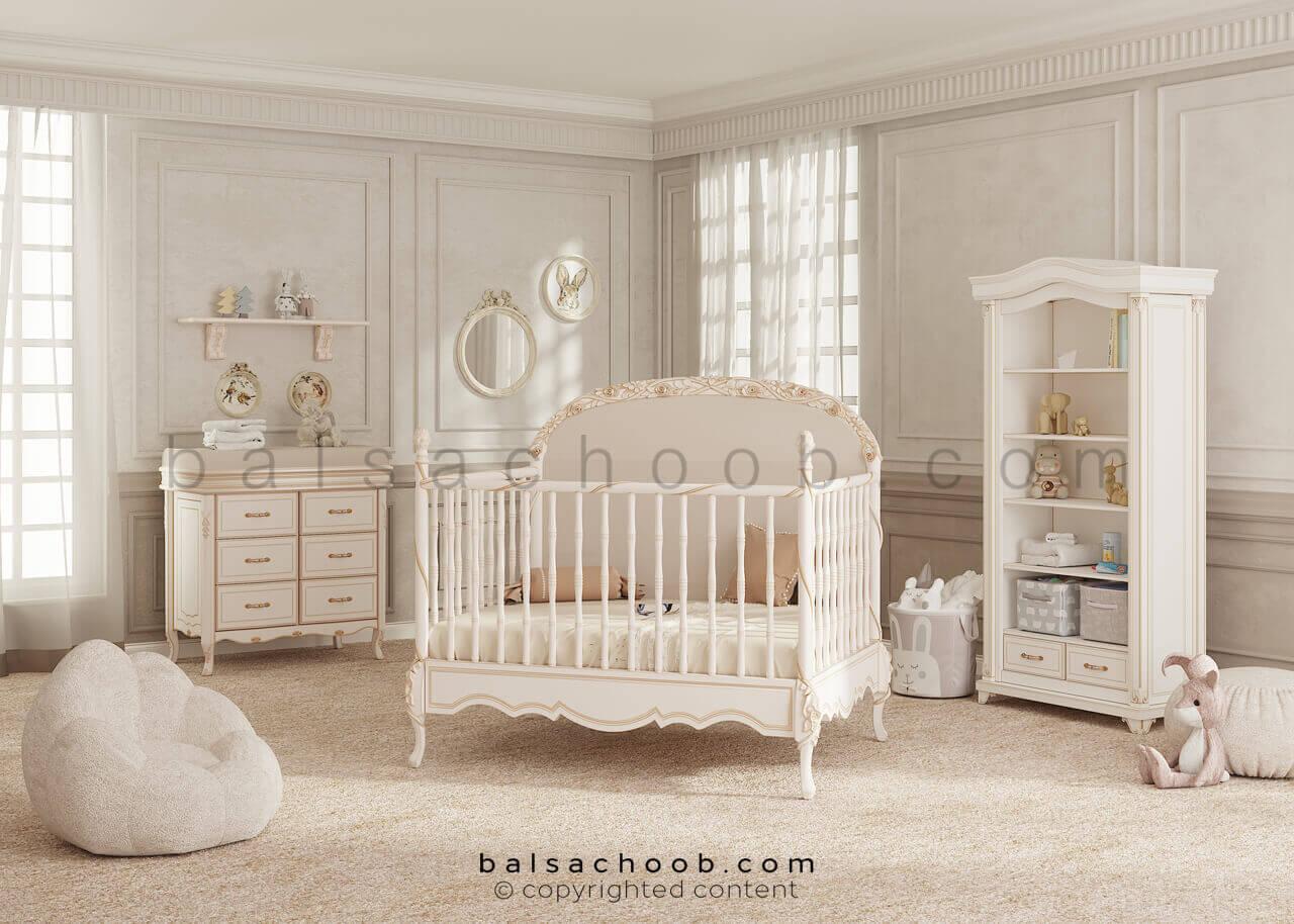 سرویس خواب نوزاد بالسا مدل کاترین
