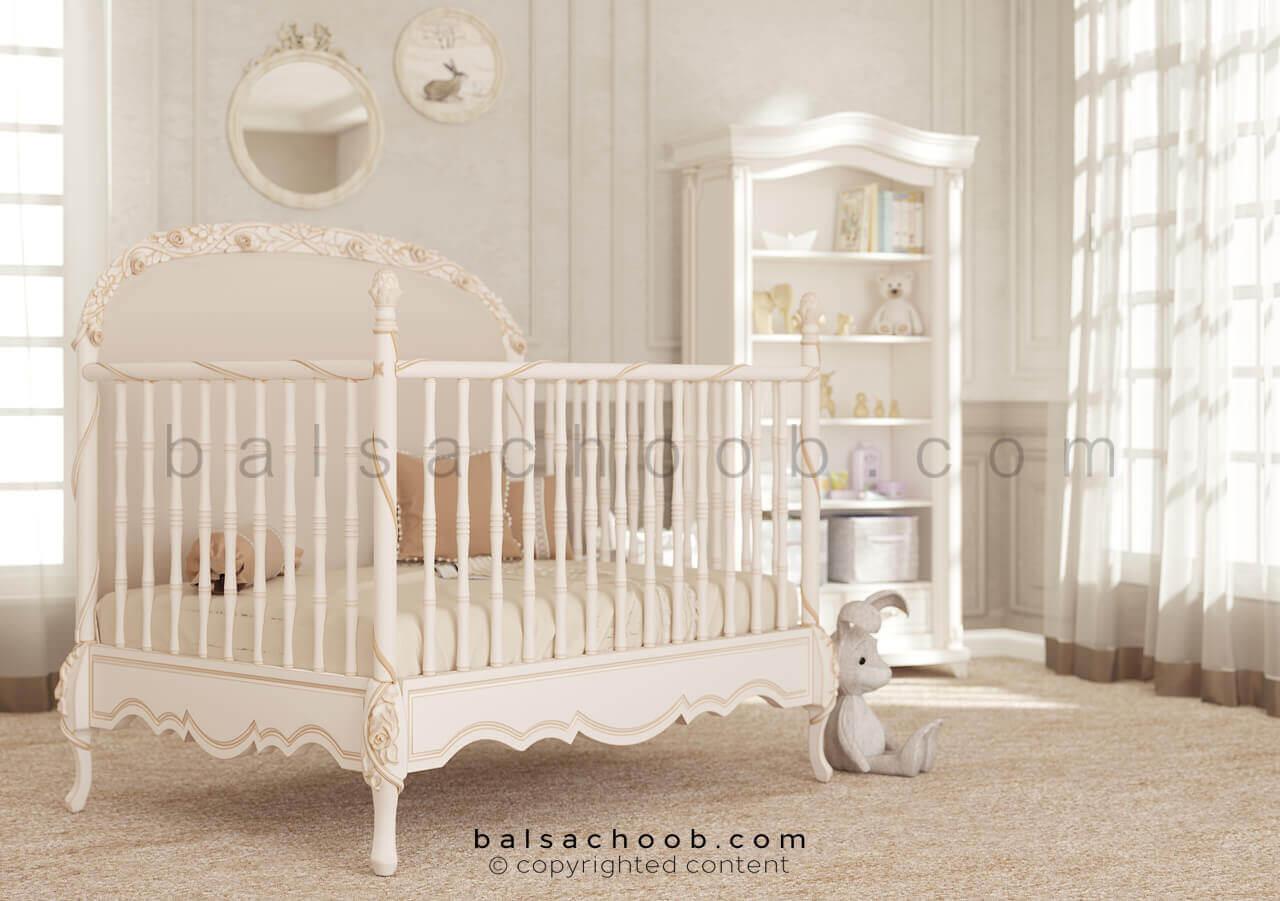 تختخواب نوزادی رز گلد