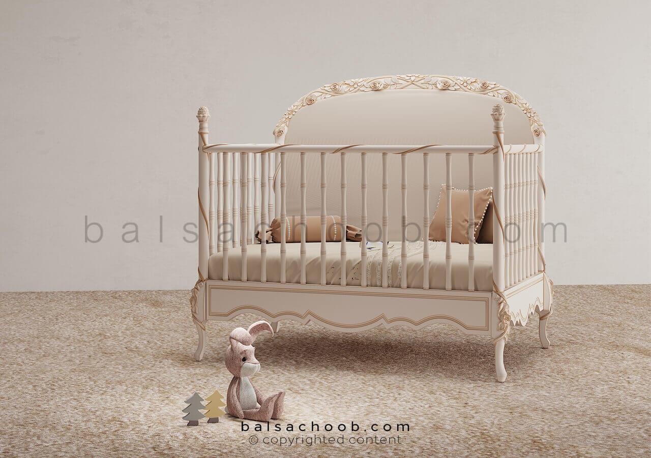 تختخواب نوزاد بالسا مدل کاترین