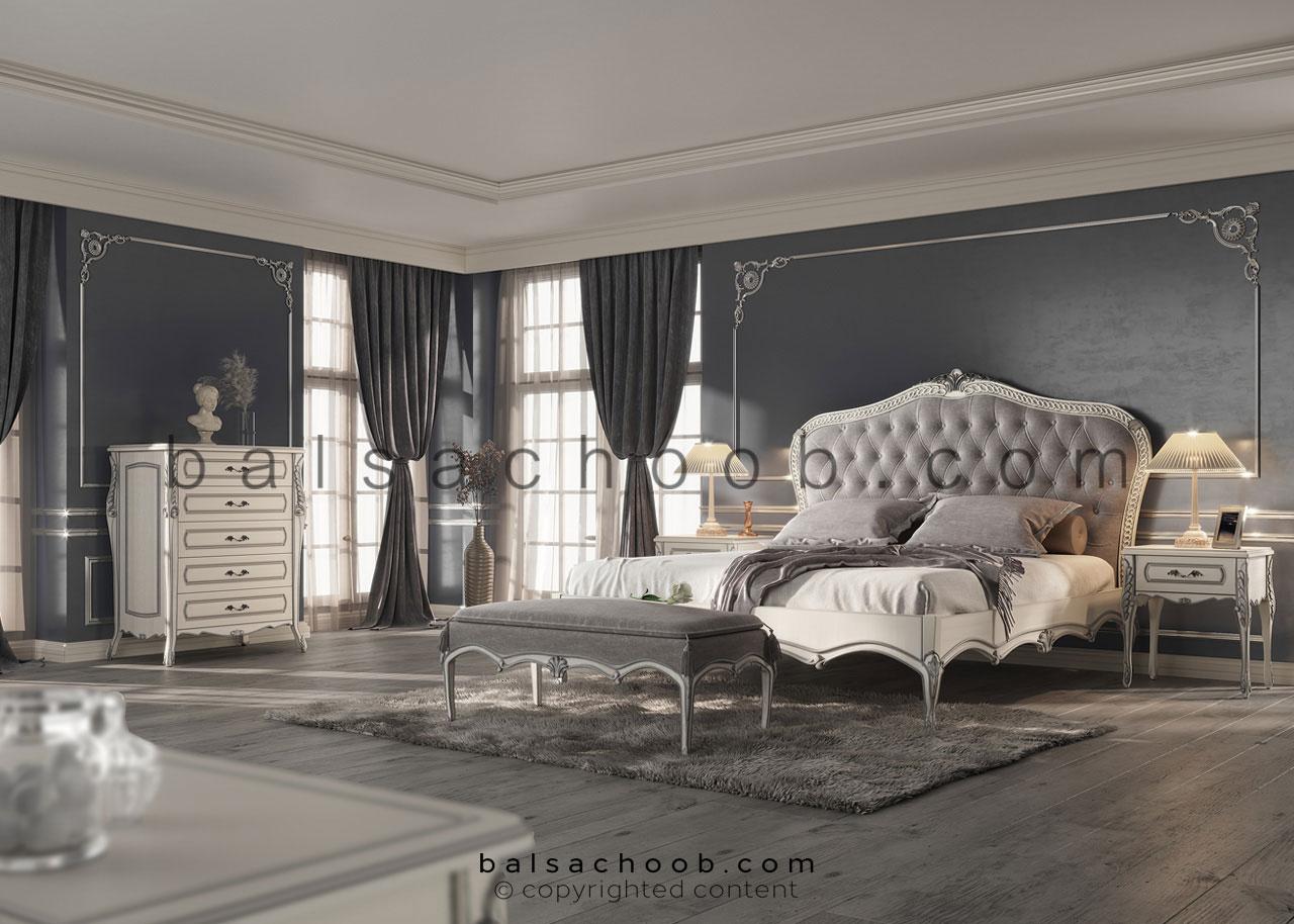 سرویس خواب چوبی بالسا مدل شایلین
