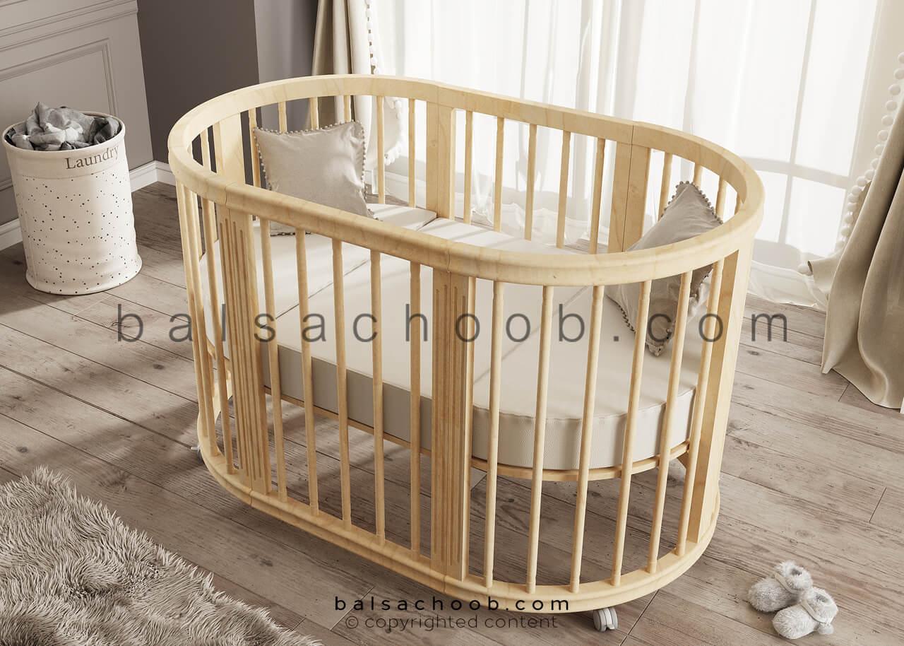 تخت نوزاد بالسا مدل گهواره ای